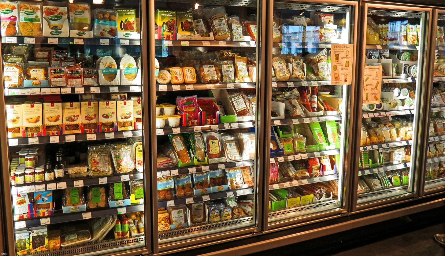 A retail refrigeration unit.