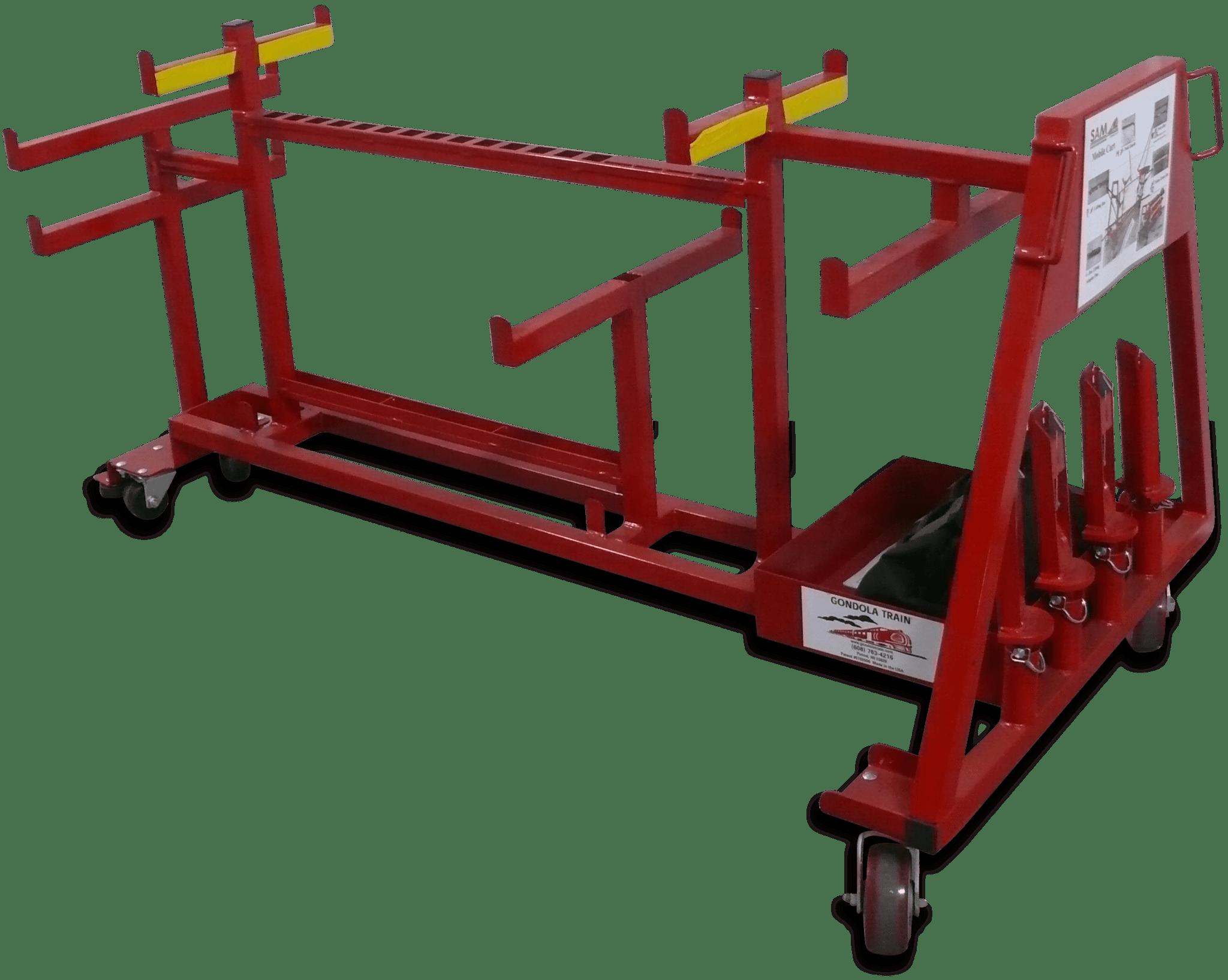 The Gondola Train work flow cart.
