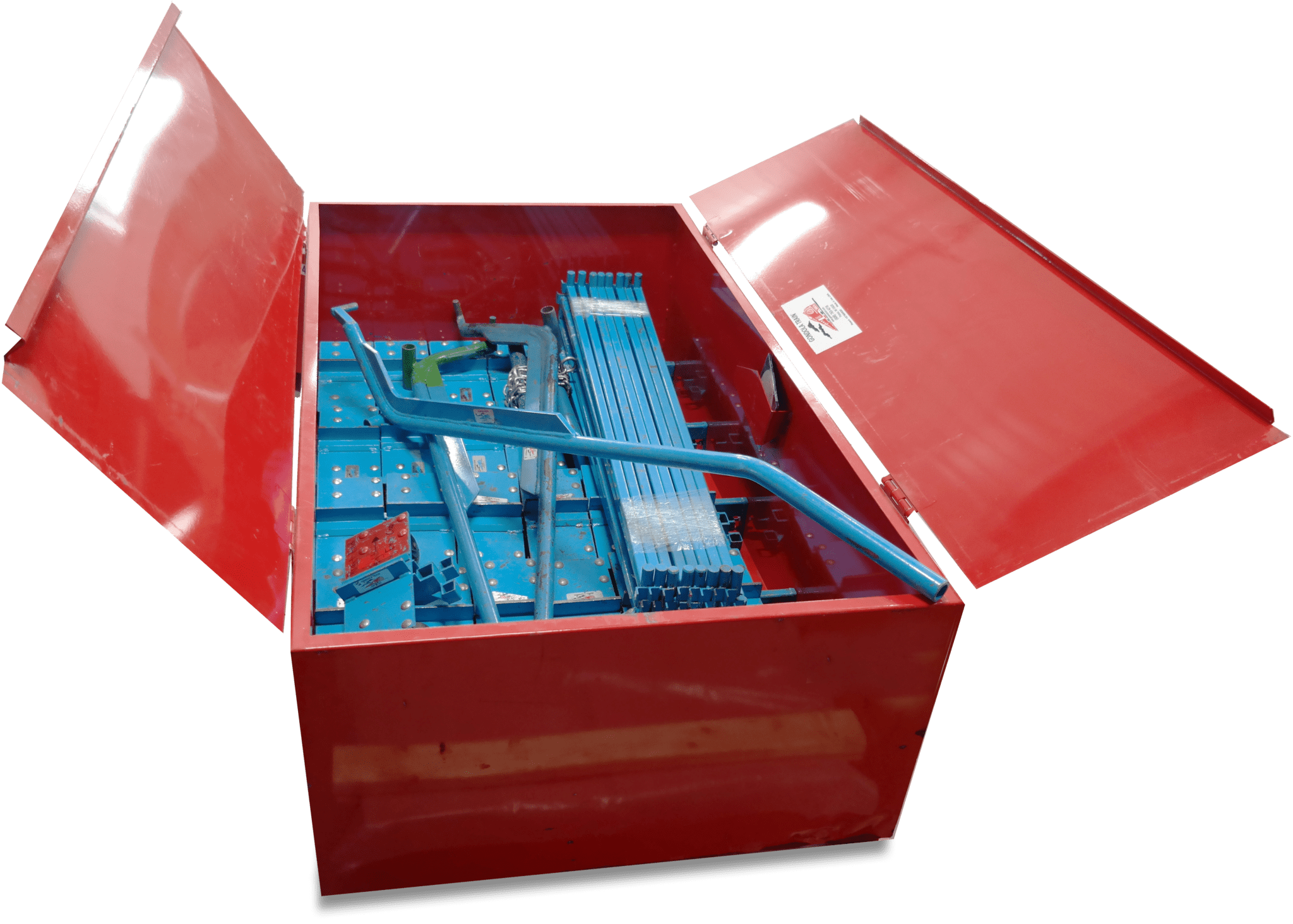 The Blue Streak storage box.
