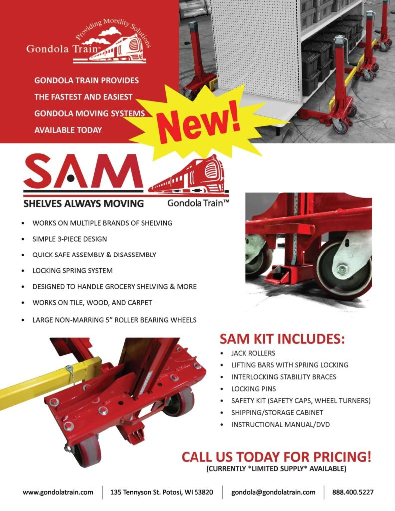S.A.M. Shelves Always Moving System Flyer