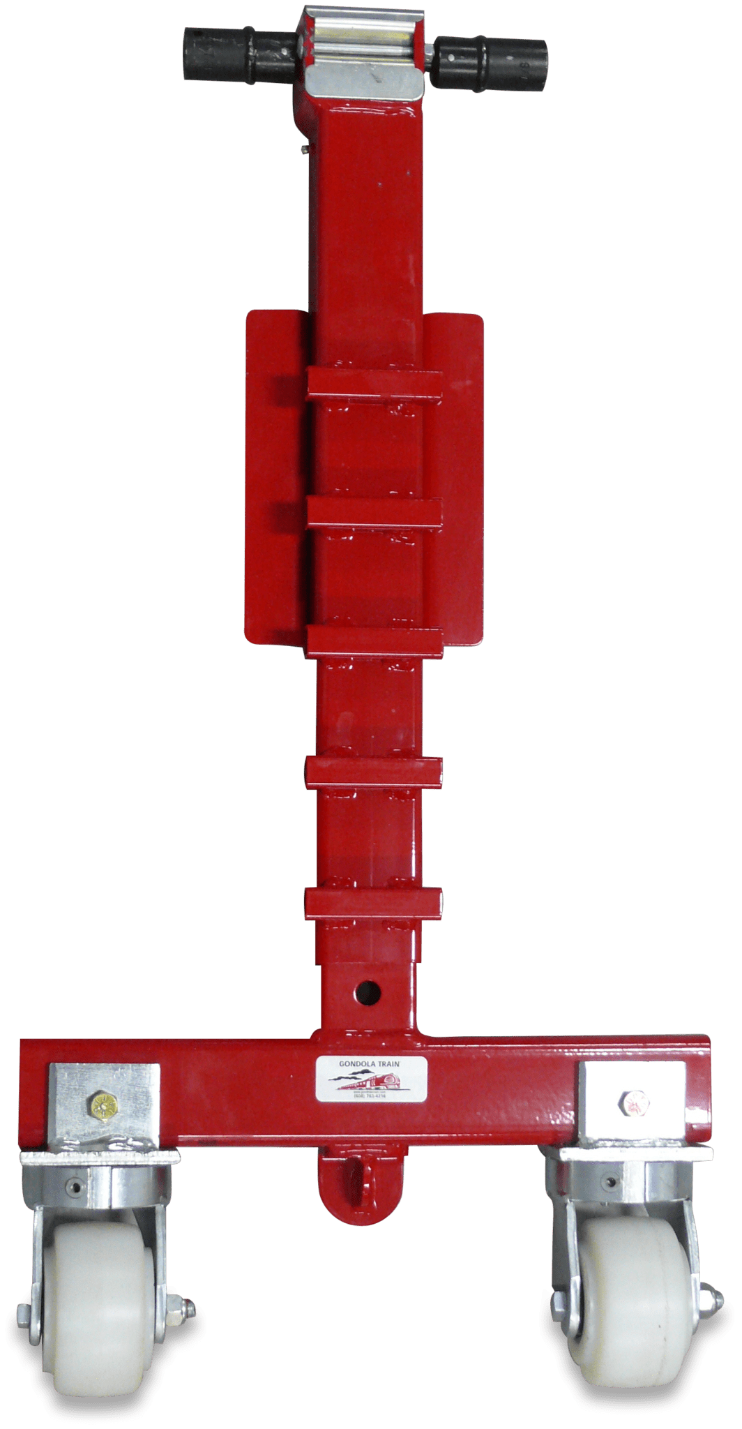 The red Gondola Train pallet lift Jack.