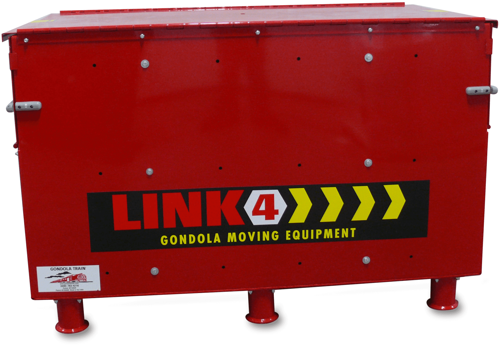 A red Gondola Train Link 4 storage box.