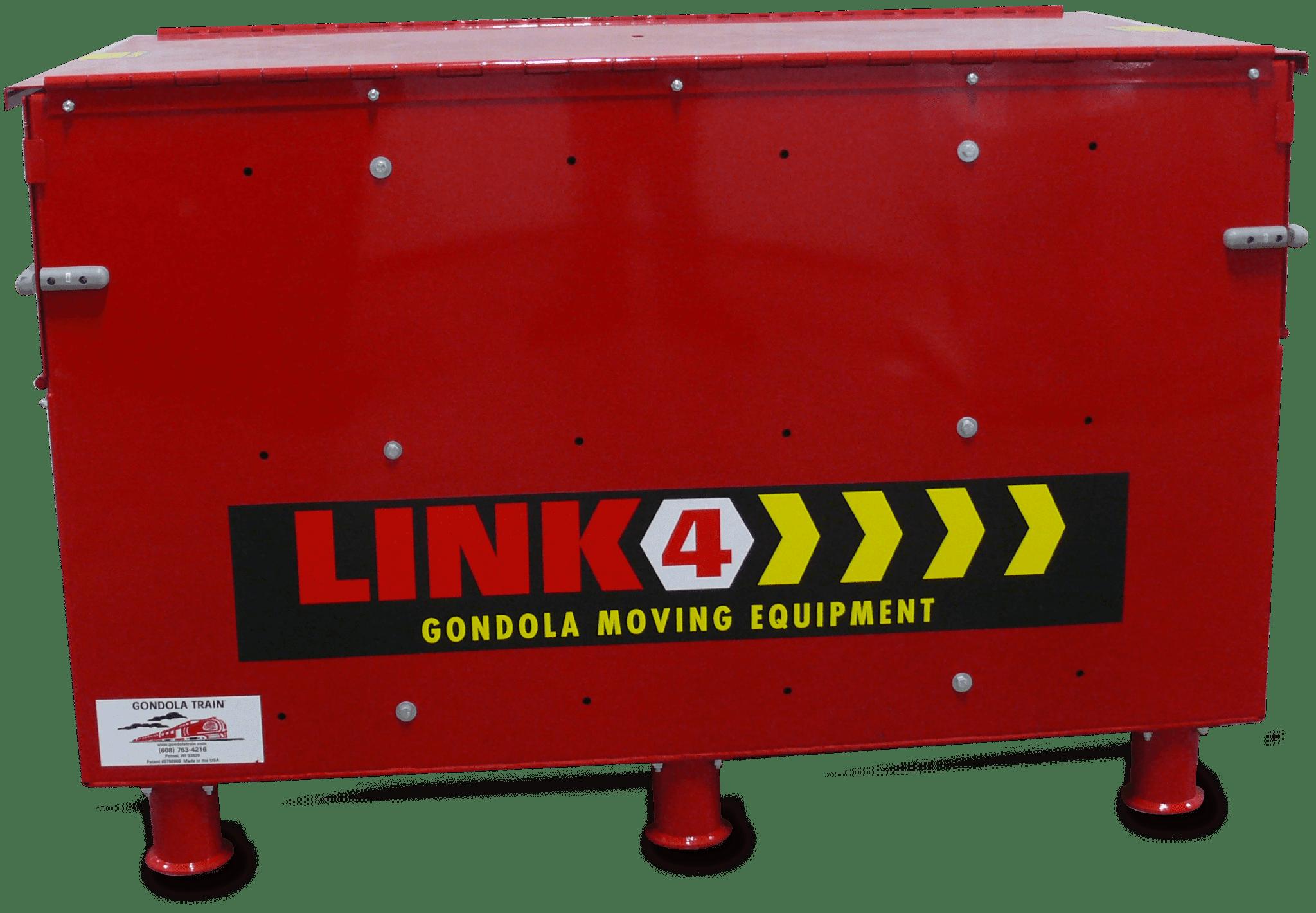 A red Gondola Train Link 4 storage box.