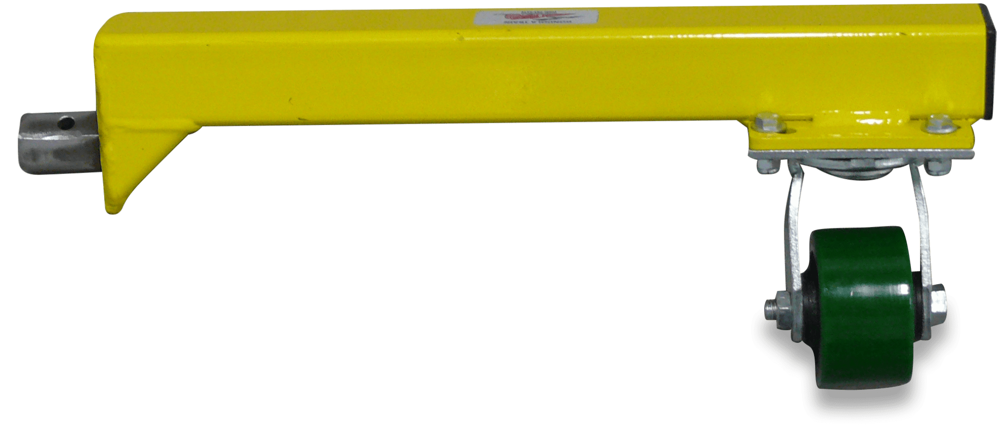 A cut-out of the yellow Gondola Train stabilizer leg.