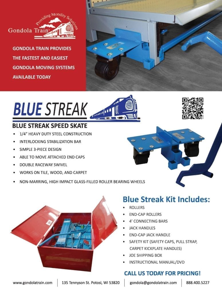 Gondola Train Blue Streak Speed Skate Flyer