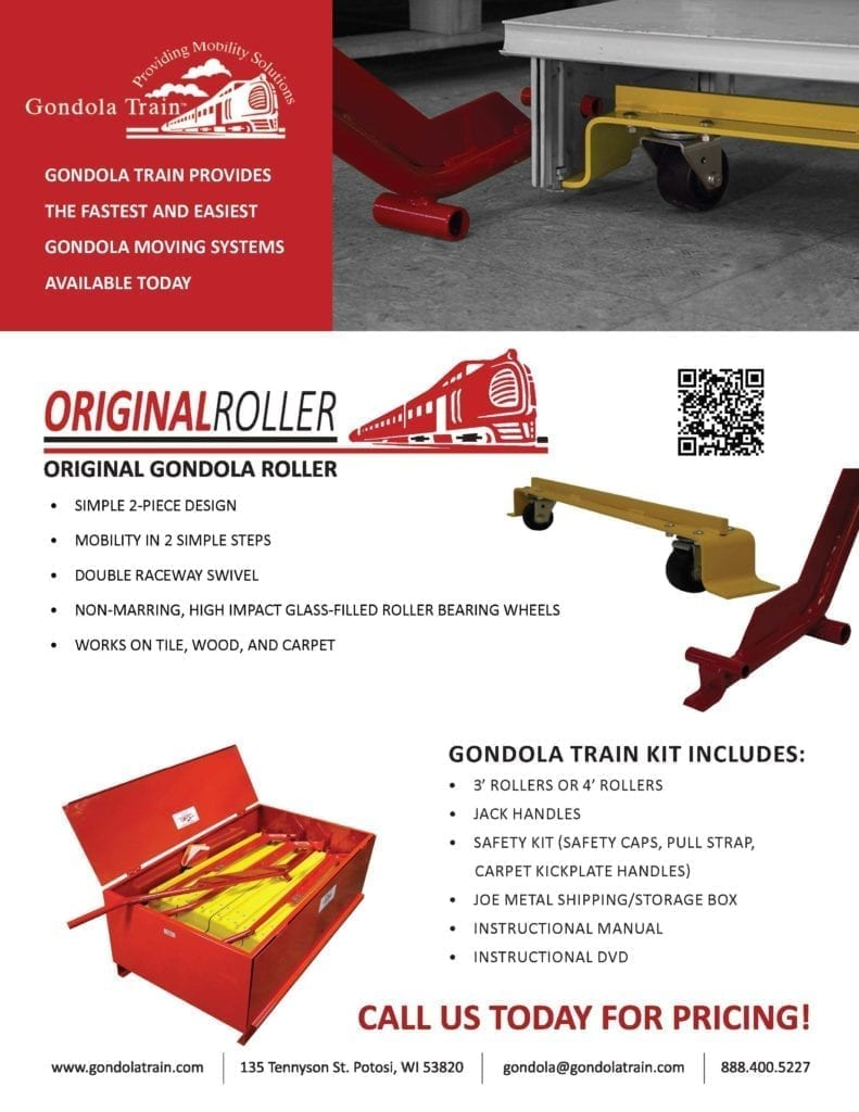 Gondola Train Original Rollers Flyer