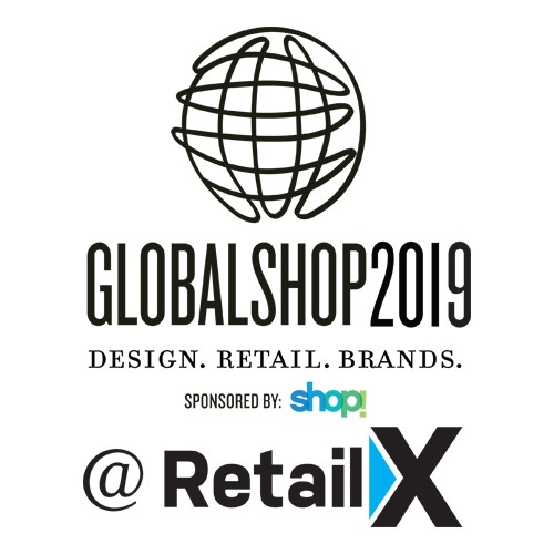 The GlobalShop 2019 logo stacked above the RetailX logo.